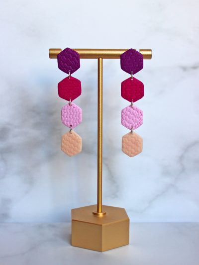 four piece colorful earrings