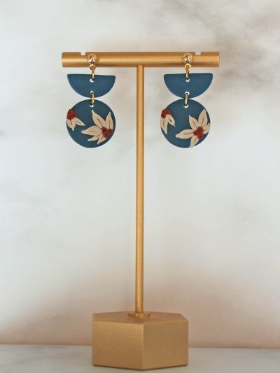 Lily Earrings Navy color