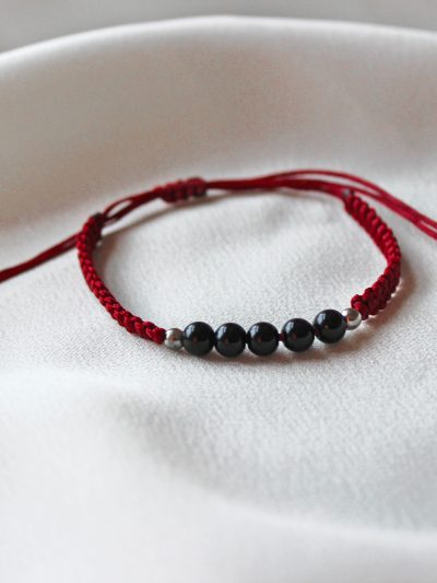 Red Braided Bracelet