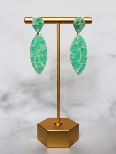 tirquoise earrings with amazonite effect